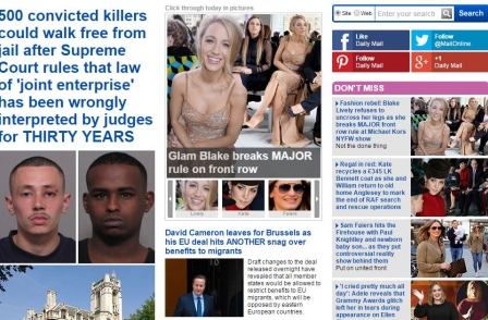 Website ABCs: Mail Online attracts new record 14.8m unique daily browsers and 238m over month