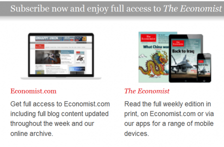 Magazine ABCs: Digital editions account for 2.5 per cent of UK mag sales with Economist leading the way