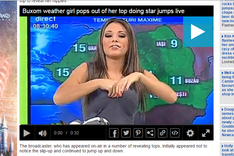 Weather girl boobs story provides cheap online hits for tabloids FIVE YEARS after the event