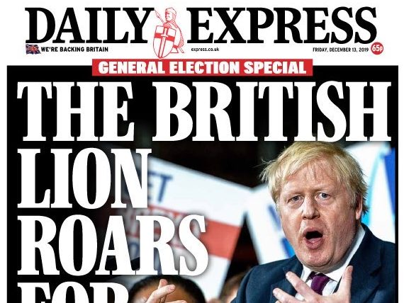 How UK newspapers reported Boris Johnson's 'landslide' election victory
