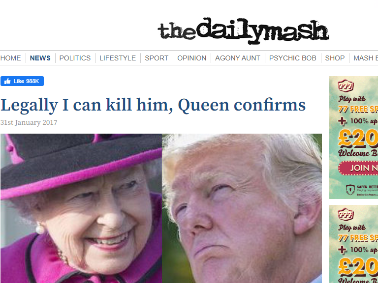 Daily Mash editor: 'There's an incredible amount of fact-checking given we're technically making everything up'