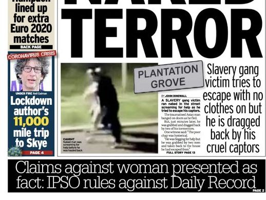 IPSO backs convicted stalker in Daily Record complaint after reporting allegations as fact