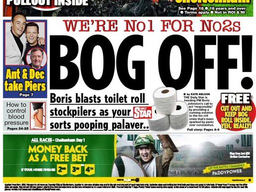 Daily Star tells readers 'we've got your back(side)' amid coronavirus outbreak as it prints emergency loo roll