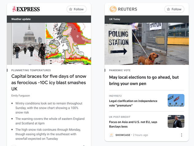 Google begins UK roll-out of news showcase paying publishers for paywalled content