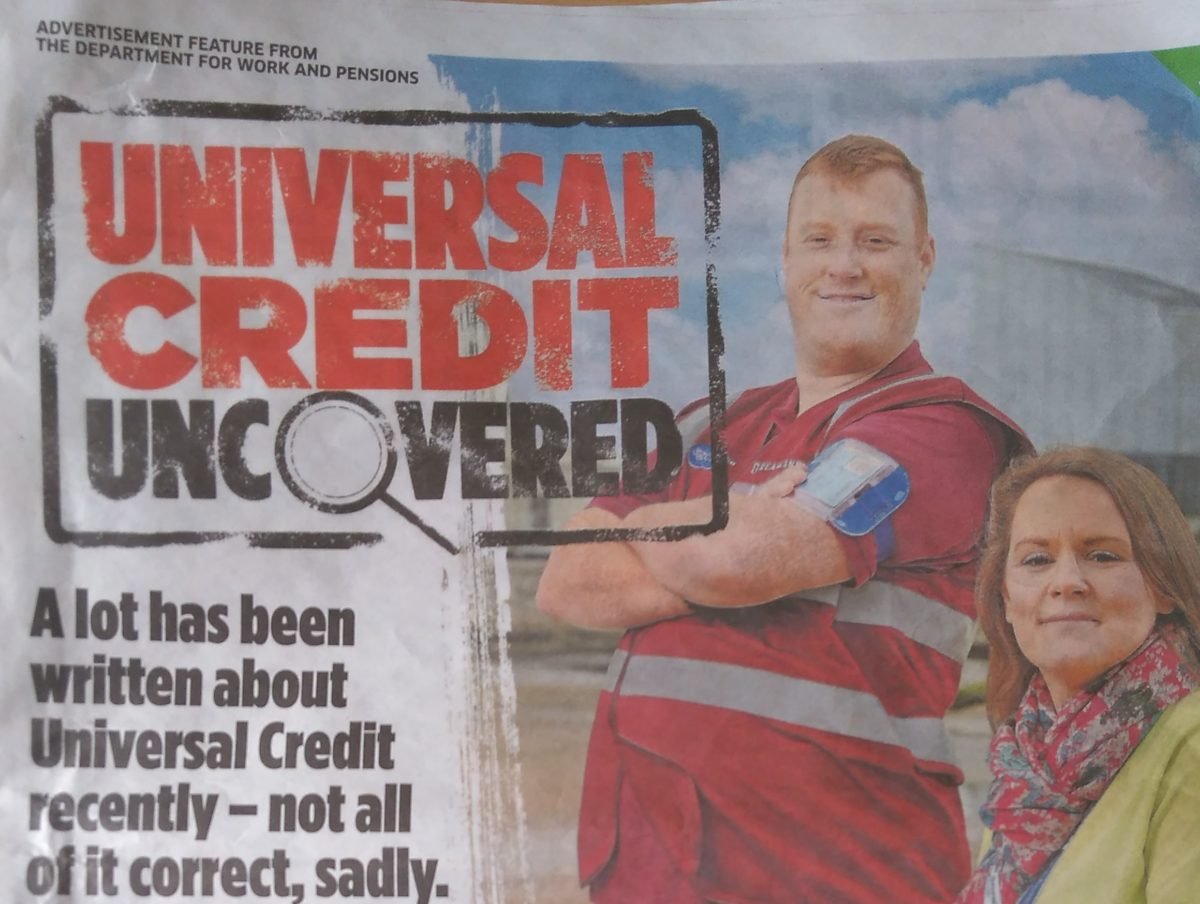 Metro Universal Credit advert condemned as 'propaganda' and 'insult to disabled people'