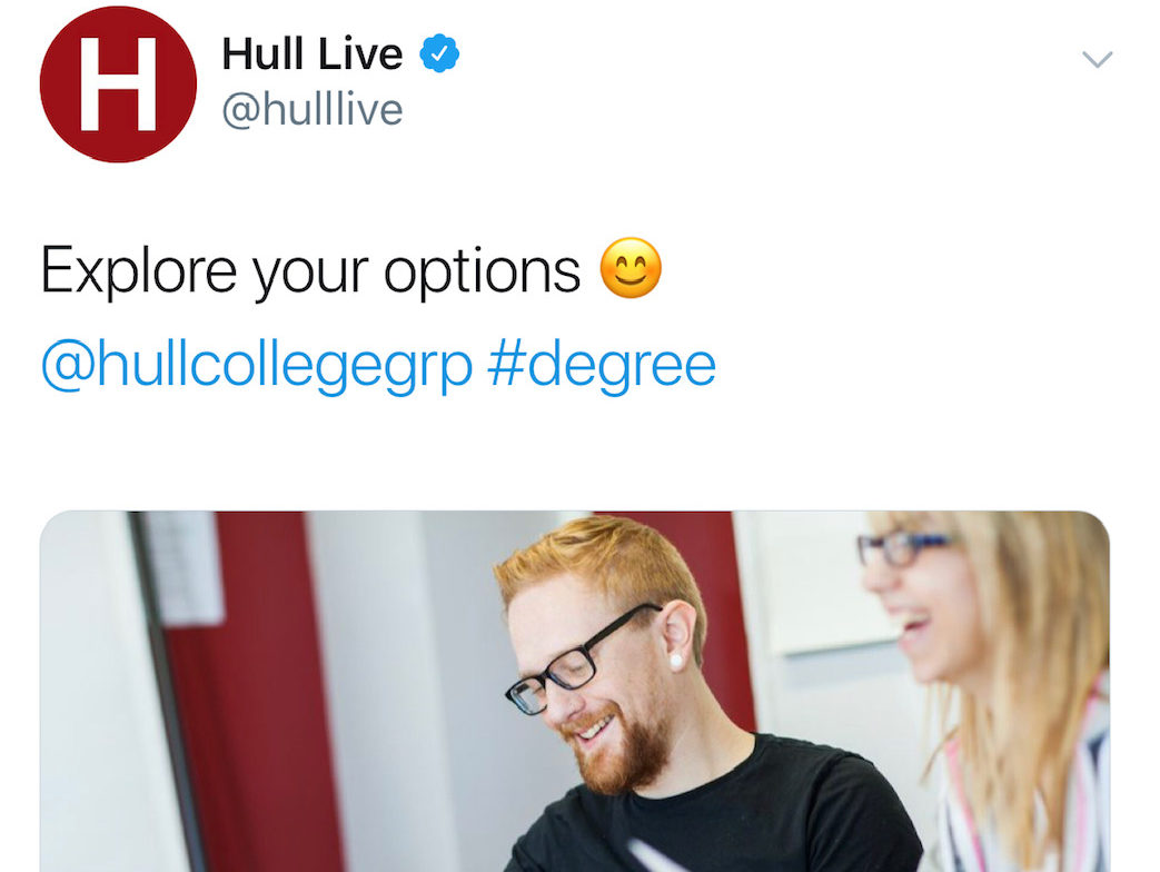 Hull Live reported over failure to signpost advertorials on Twitter