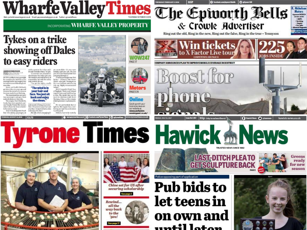 JPI Media set to close ten local newspapers across UK