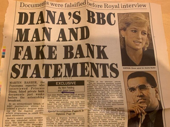 Mail on Sunday journalists who exposed Martin Bashir Diana fakery 24 years ago say story was ignored