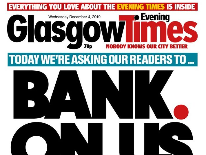 Newsquest's Evening Times changes name in relaunch aiming to 'renew local roots'