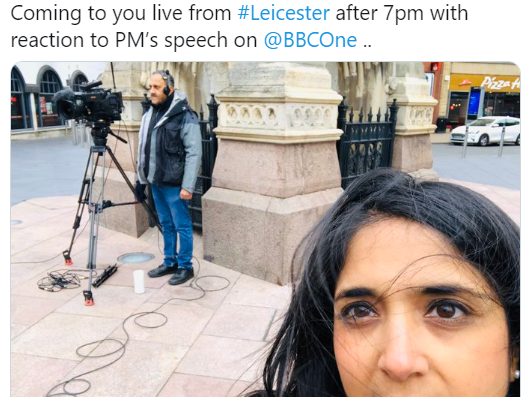 Man denies 'racially abusing' BBC News reporter ahead of live broadcast