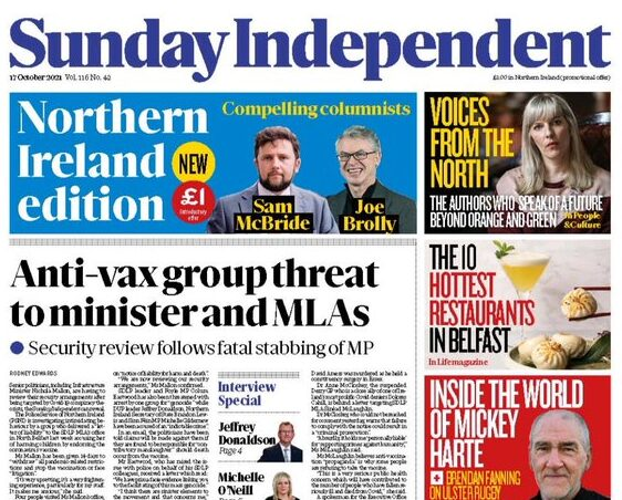 Sunday Independent launches Northern Ireland edition 'with no agenda'