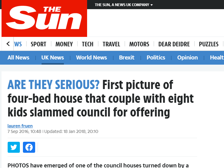 Tabloids win High Court harassment battle with family who sought publicity for bigger council house