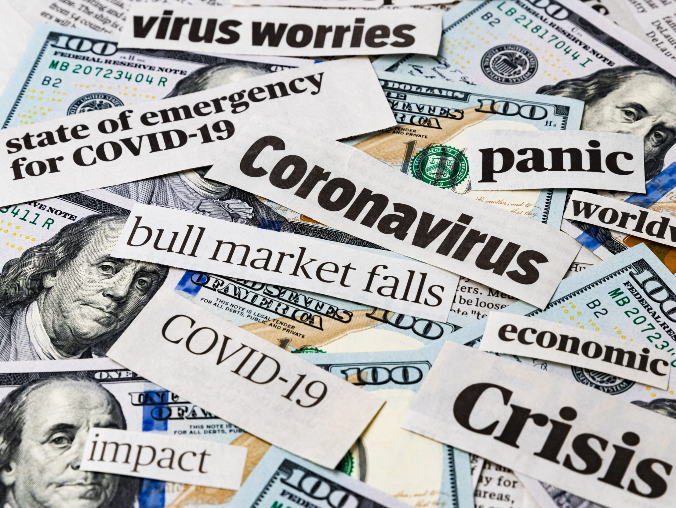 coronavirus crisis Covid-19 newspaper headlines US dollars