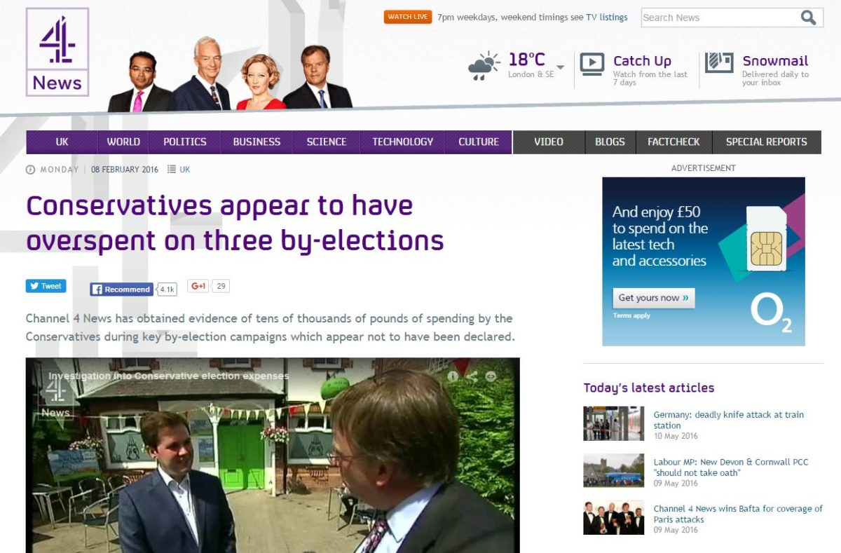 Channel 4 election expenses probe prompts police investigation as BBC denies ignoring story