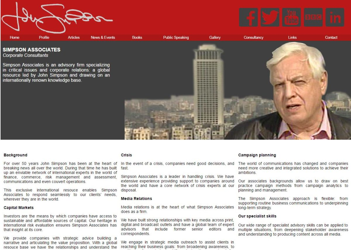 John Simpson closes personal website after it reveals 'consultancy' plans in breach of BBC guidelines