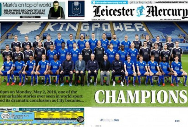 Leicester Mercury rushes out afternoon edition as Premier League win prompts print sell-out