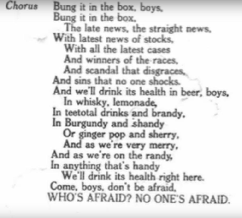 'Shove it in the fudge boys': Listen to the delightfully jaunty 1932 'Song of the NUJ'