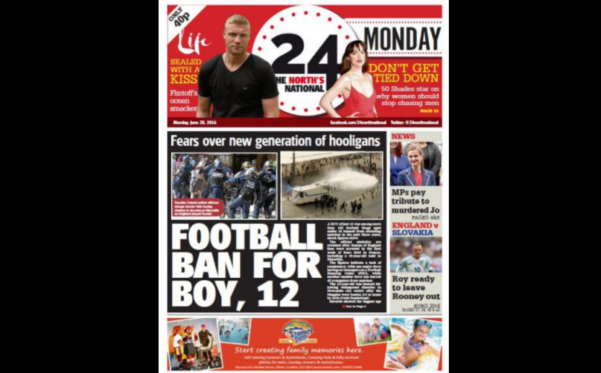 New 'national' daily  for the north of England 24 launches: 'We in the UK love our newspapers', says editorial director