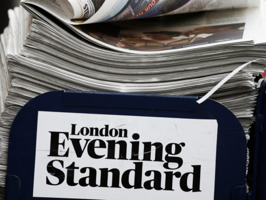 Evening Standard moves to one print edition per day with proposal to put sub-editors on half time (and half pay)