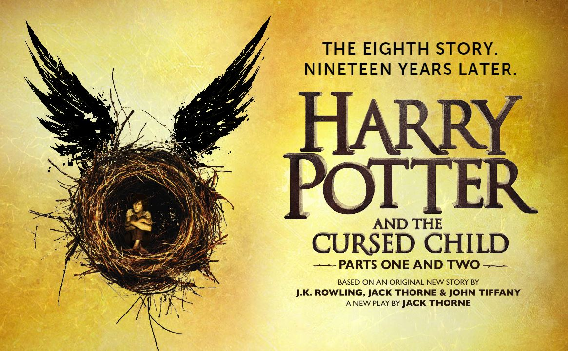 A screen-grab of the Harry Potter and the Cursed child website