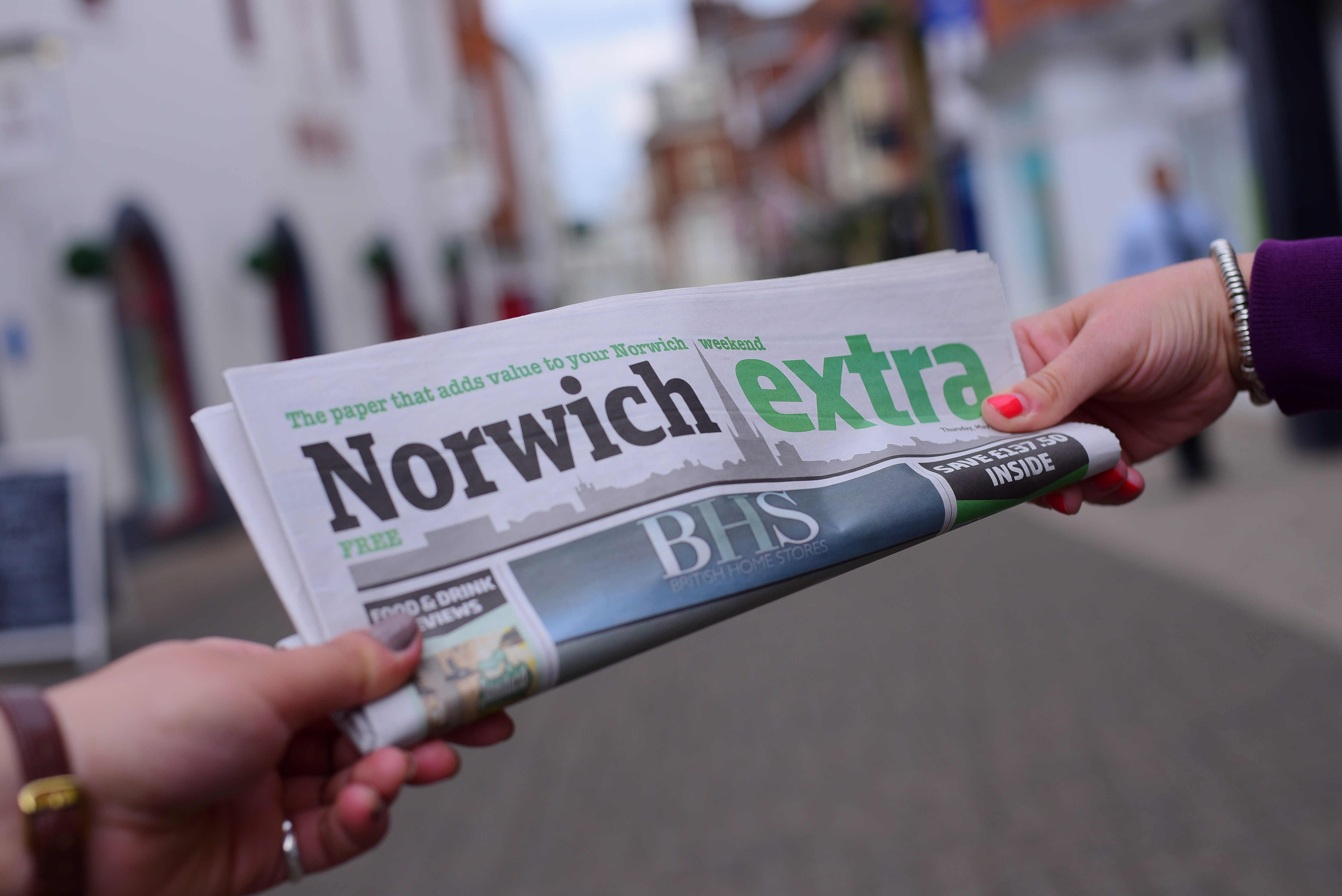 The Norwich Extra newspaper. Picture: Simon Finlay