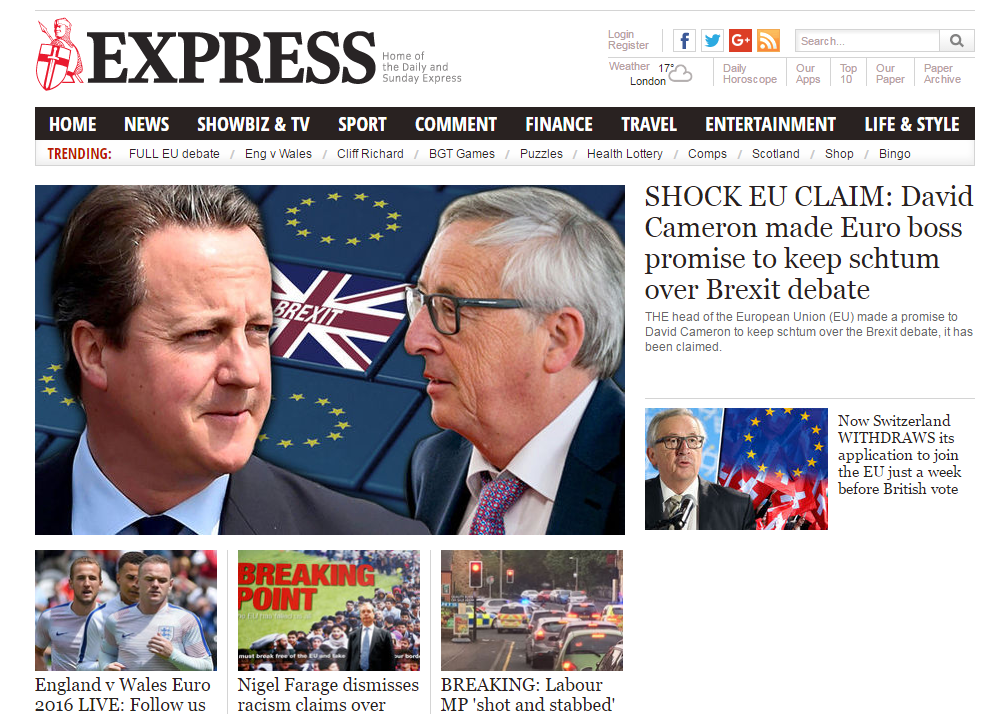 Website ABCs: Express and Star titles have fastest growing newspaper websites in May 2016