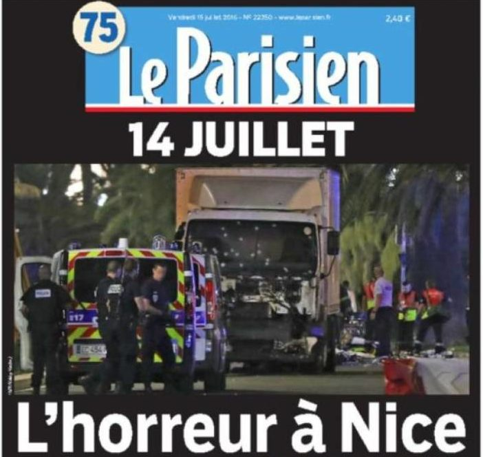 'L'horreur' – How French dailies covered the Bastille Day terror attack in Nice
