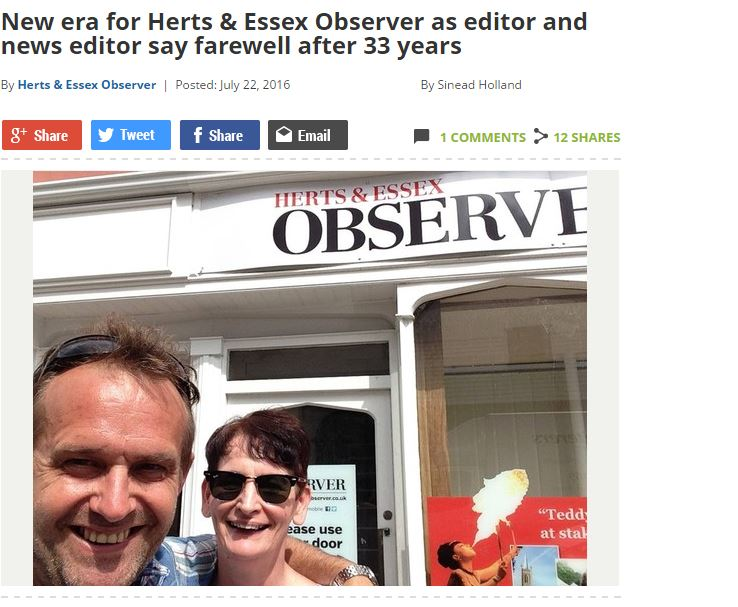 Trinity Mirror redundancies on former Local World titles in Herts and Essex see one editor take charge of three titles