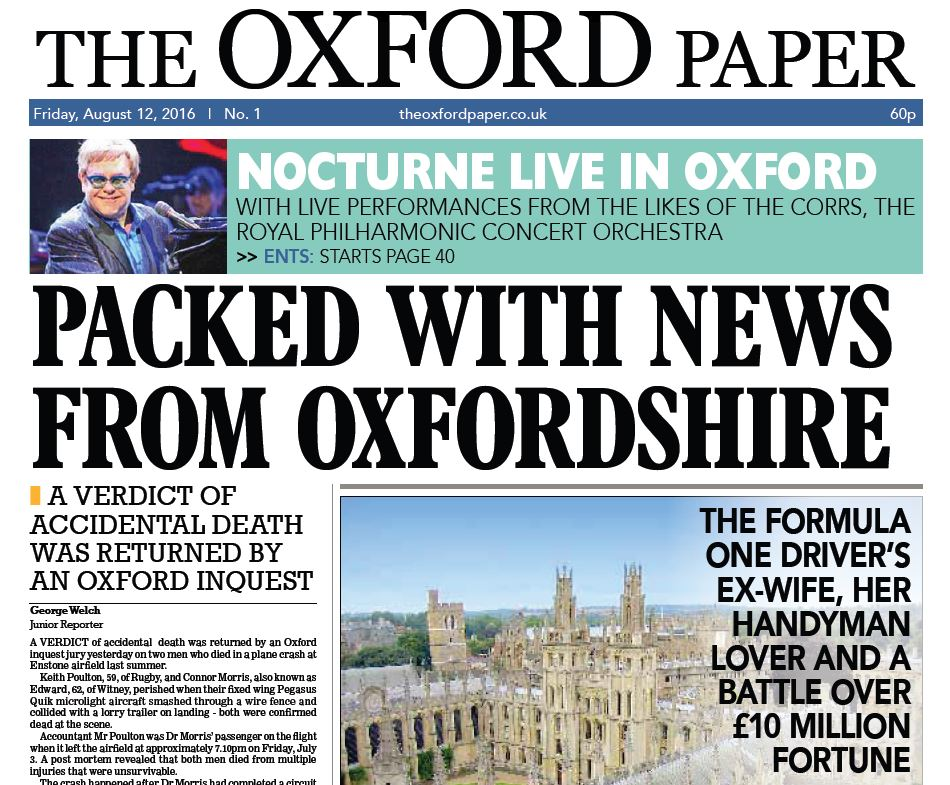 New weekly paper launches in Oxford as Taylor Newspapers takes on Newsquest in paid-for market