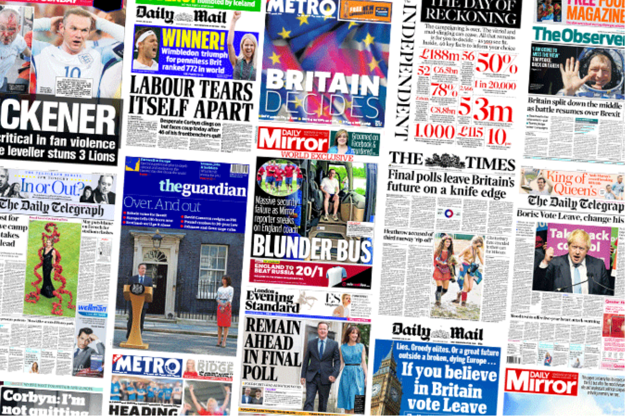 National Newspapers Saw A Boost In Both Print And Online Readership Last Month Before And After The 23 June Eu Referendum