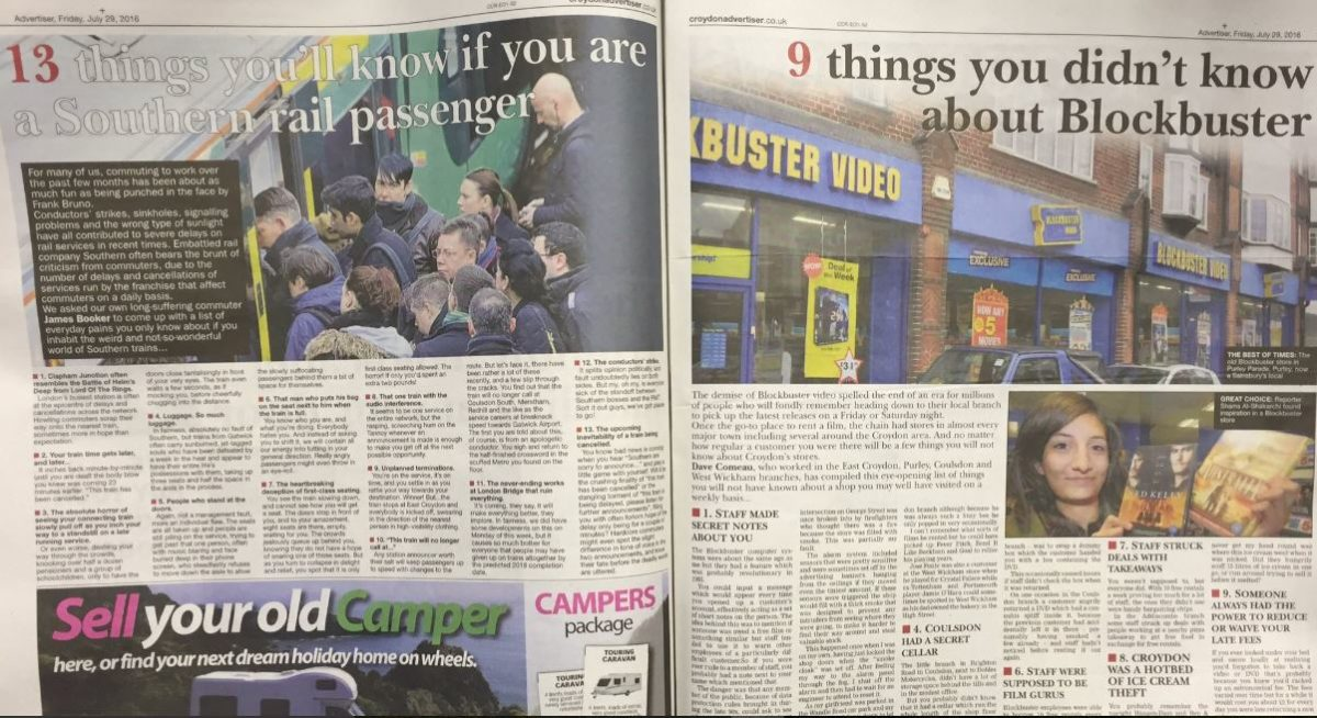 'Heartbroken' reporter Gareth Davies says Croydon Advertiser print edition now 'thrown together collection of clickbait'