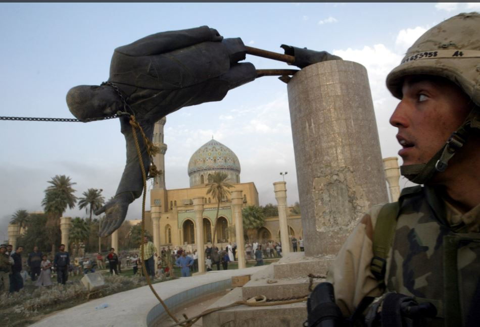 'Without the removal of Saddam Hussein we wouldn't have any journalists in Iraq at all'