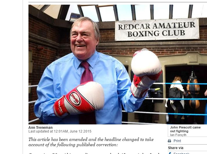 John Prescott says 'back on terra cotta' quote was Del Boy not him, but IPSO clears Times over diary piece
