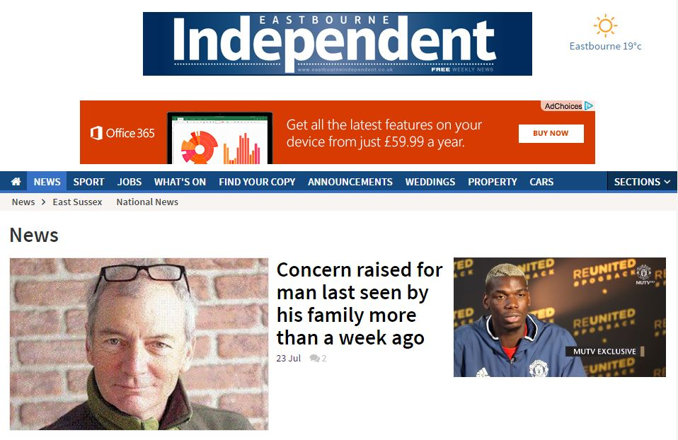 Newsquest's upmarket free weekly Eastbourne Independent ceases publication