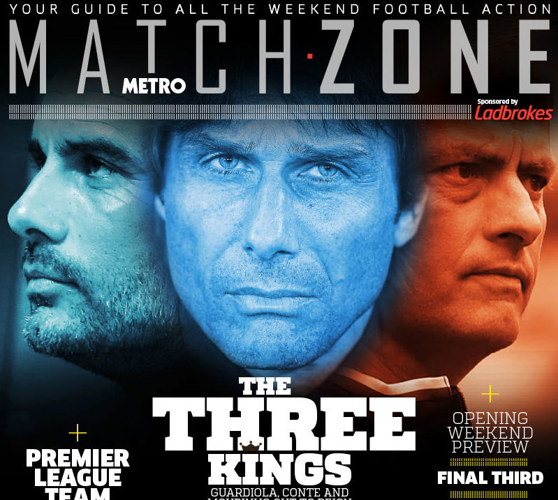The new Matchzone section will appear in the Metro on Fridays