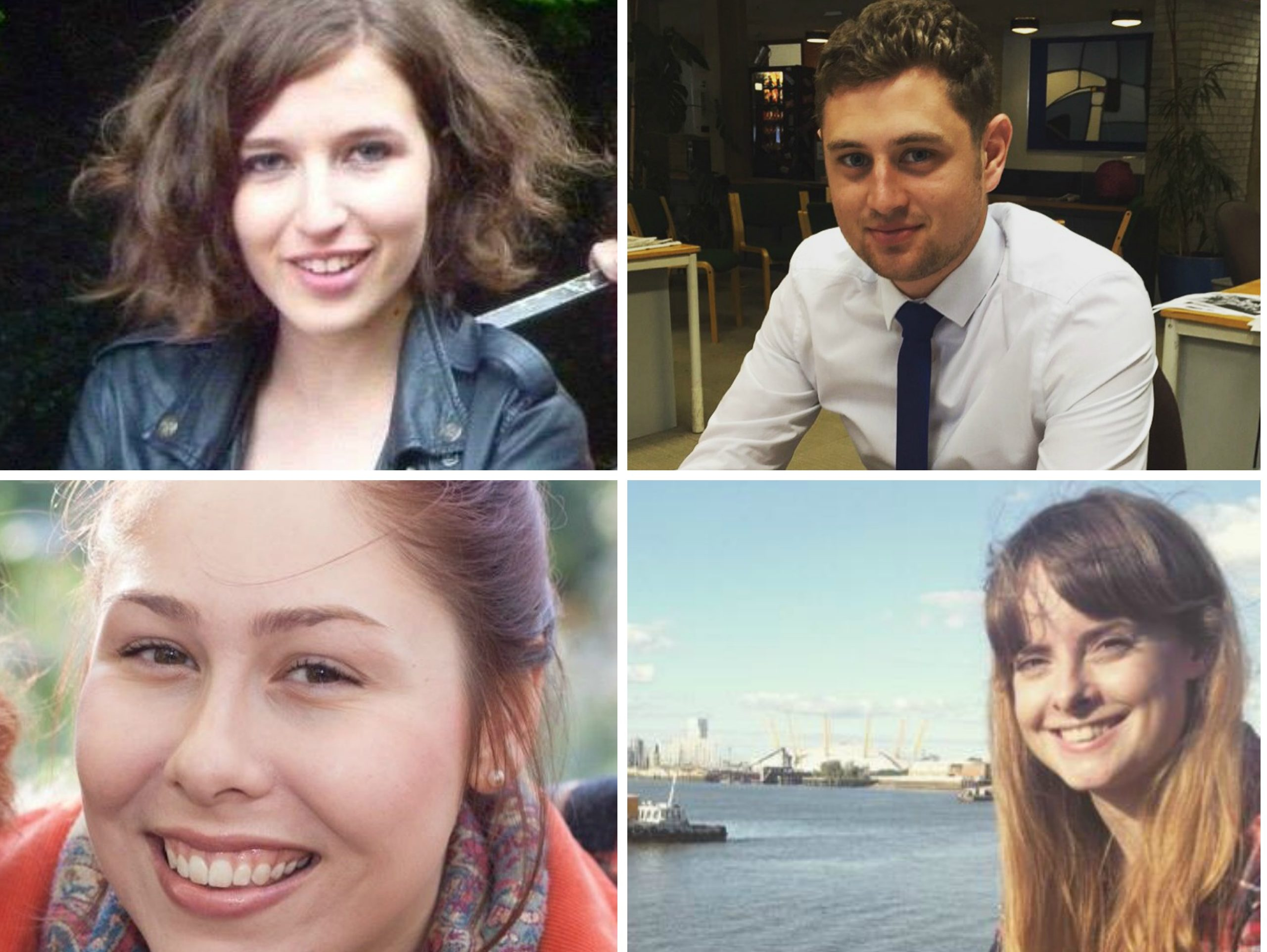 Clockwise from top left: Hannah Mirsky, Michael Race, Jessica Bell and Rebecca Choules