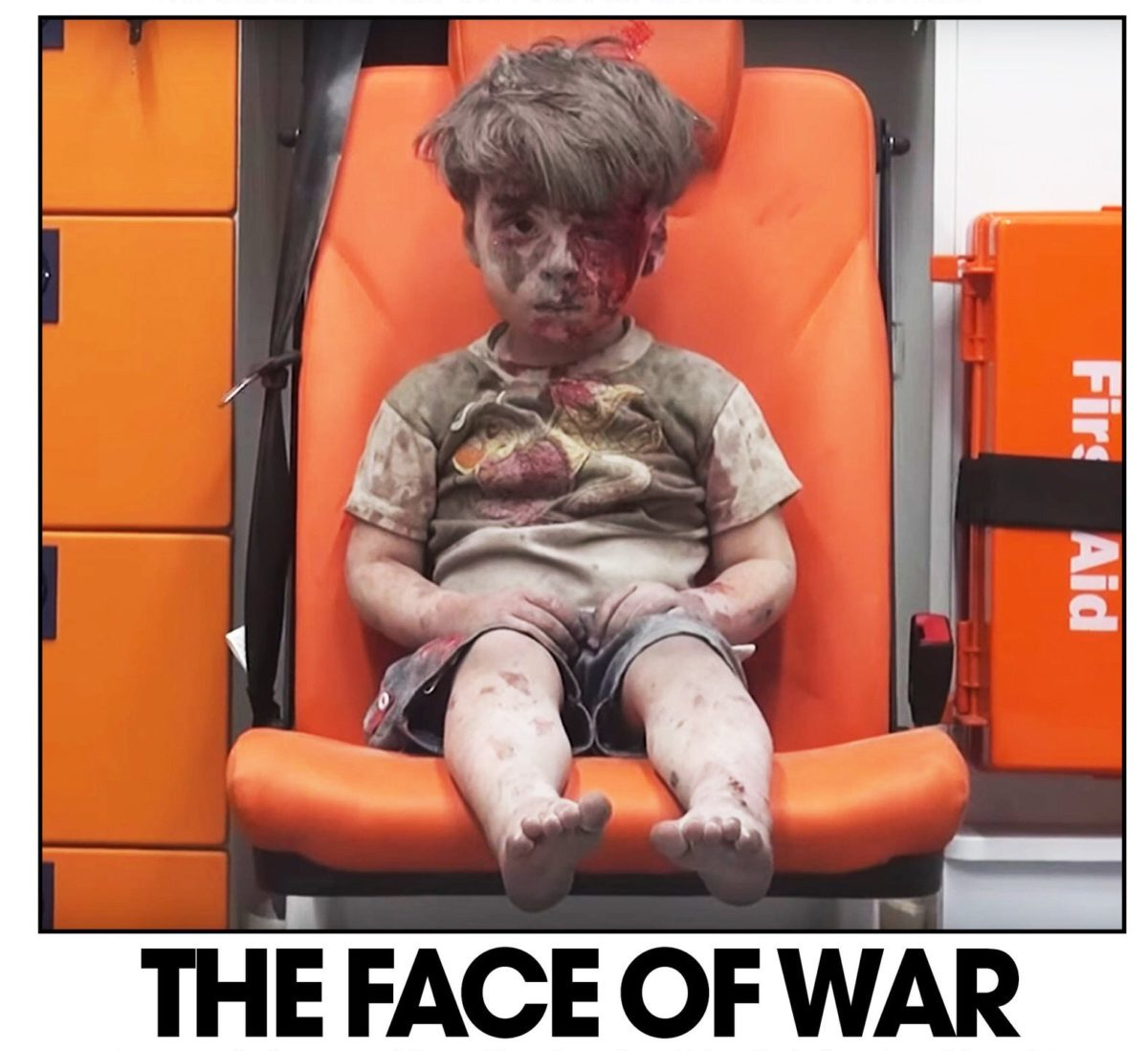 National dailies splash on iconic picture of Syrian boy in ambulance, declaring him 'new face of tragic war'