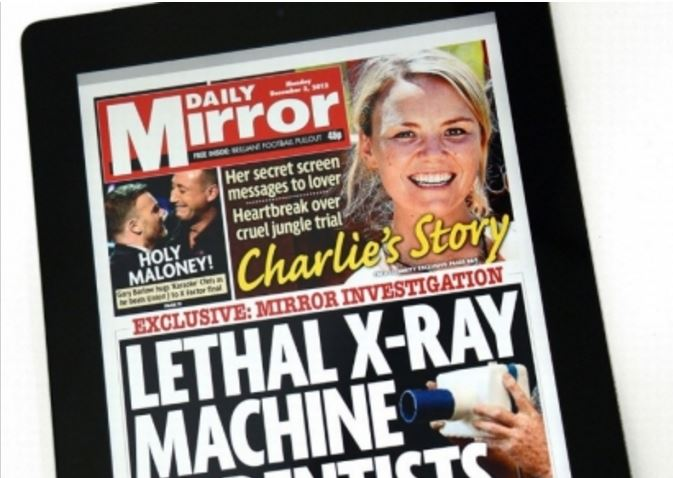 Daily Mirror to start charging for digital edition because of news industry's 'unprecedented challenges'