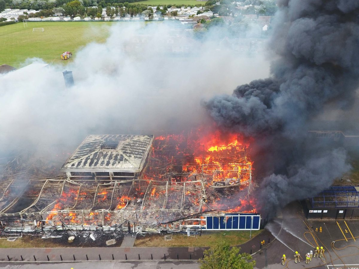 Drone photographer challenges Alamy and Express over use of aerial school fire image