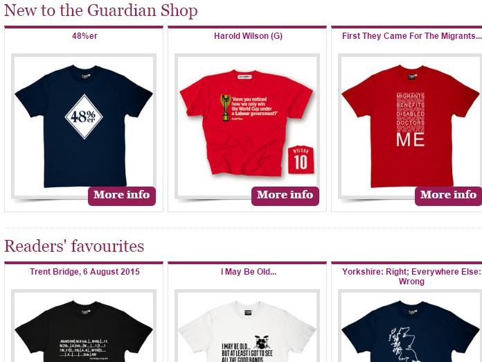Guardian shop selling 'I'm the one the Daily Mail warned you about' t-shirts to close next month