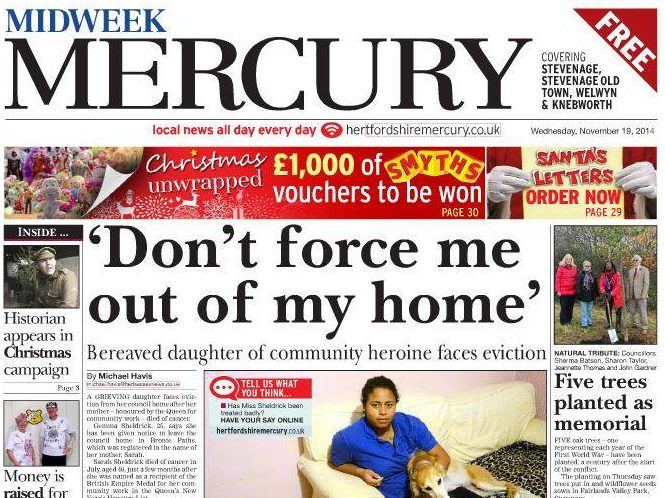 Midweek Mercury Stevenage edition closes as Trinity Mirror cuts continue