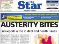 A front page of The Mid Devon Star from August