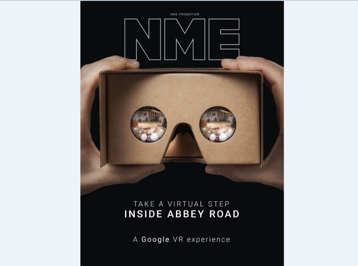 NME to give away 80,000 Google Cardboard viewers to promote Inside Abbey Road app
