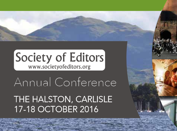 Google News Lab session included in this year's Society of Editors conference at Carlisle on 17/18 October