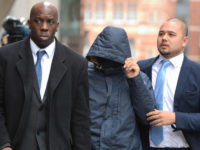 Fake Sheikh Mazher Mahmood (centre) arrives at the Old Bailey, London, Picture: Dominic Lipinski/PA Wire