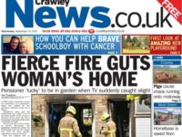 Crawley News front page