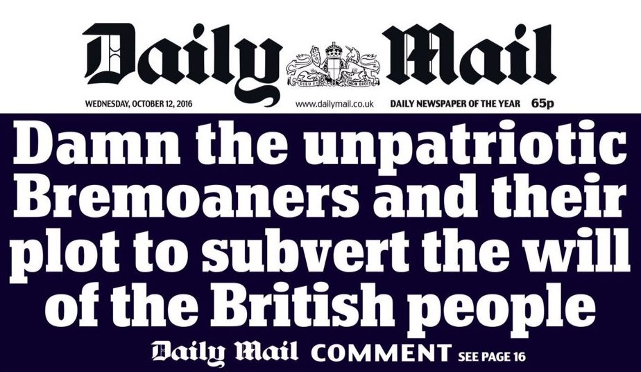 Daily Mail claims BBC 'leading the Remain charge' as paper hits out at 'Bremoaners' after Times scoop