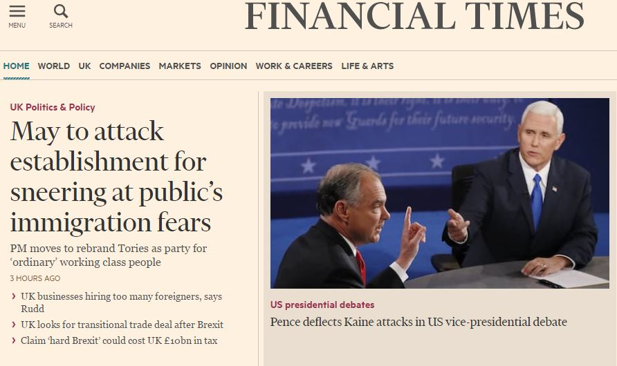 Financial Times offers free website access to school children through deal with Lloyds Bank