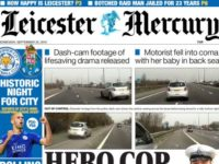 A recent front page of the Leicester Mercury