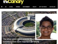 The Canary website and, inset, its editor-in-chief Kerry-anne Mendoza